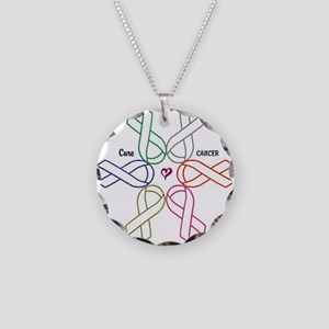 Cancer KILLS - Awareness CURES Necklace Circle Cha