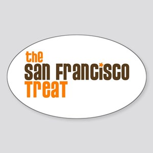SF TREAT Oval Sticker