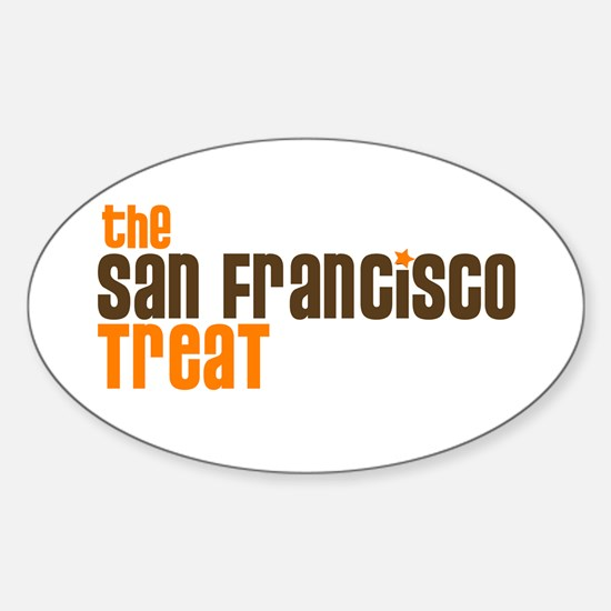 SF TREAT Oval Decal