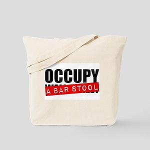 Occupy A Bar Stool Tote Bag
