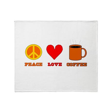 Peace Love Coffee Throw Blanket
