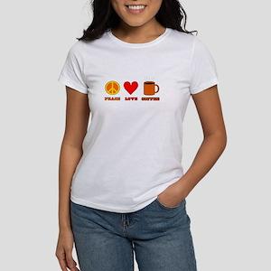 Peace Love Coffee Women's T-Shirt