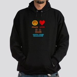 Peace Love Comic Book Hoarding Hoodie (dark)