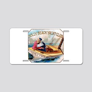 Yacht Club Cigar Label Aluminum License Plate