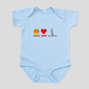 Peace Love Cowboys Infant Bodysuit