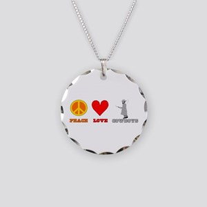 Peace Love Cowboys Necklace Circle Charm