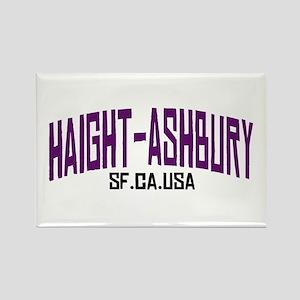 HAIGHT ASHBURY SF Rectangle Magnet
