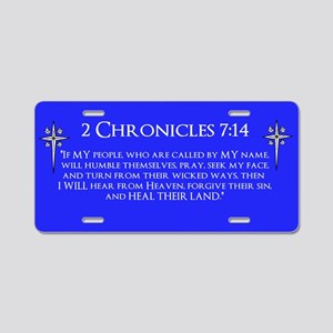 2 Chronicles 7:14 - Aluminum License Plate