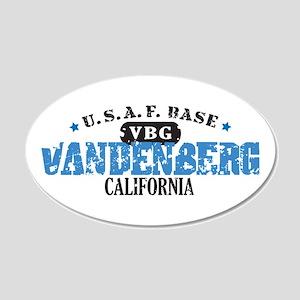 Vandenberg Air Force Base 22x14 Oval Wall Peel
