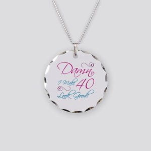40th Birthday Humor Necklace Circle Charm