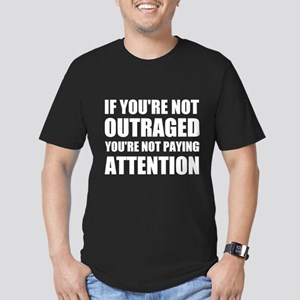 If You're Not Outraged Men's Fitted T-Shirt (dark)