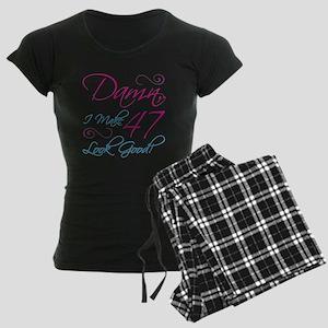 47th Birthday Humor Women's Dark Pajamas