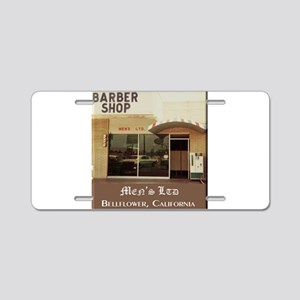 Men's Ltd Barber Shop Aluminum License Plate
