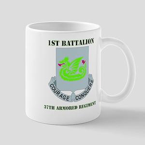 DUI - 1st Bn - 37th Armor Regt with Text Mug