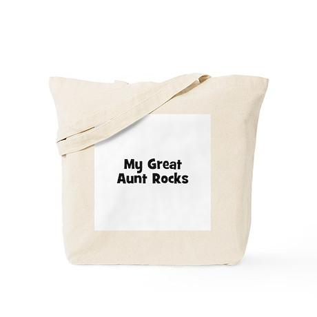 My Great Aunt Rocks Tote Bag