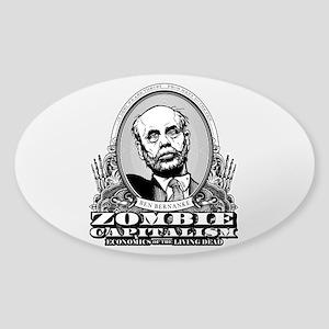 Zombie Capitalism Sticker (Oval)