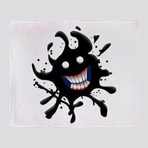 Oil Spill Smile Throw Blanket