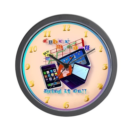Cyber Monday-Bring It On! Wall Clock