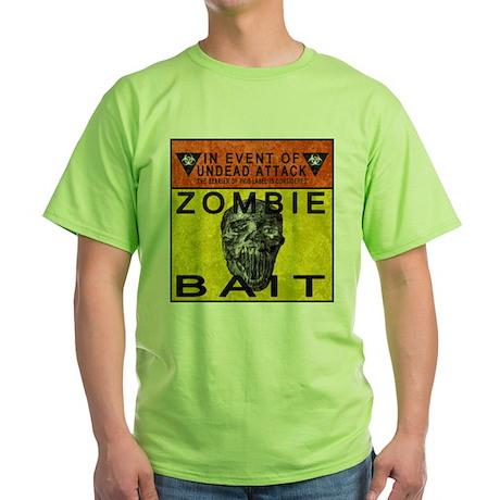 Zombie Bait Label Green T-Shirt