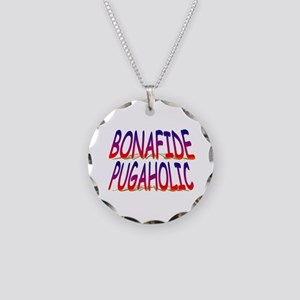 Bonafide Pugaholic Necklace Circle Charm