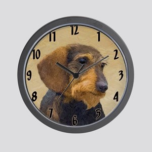 Dachshund (Wirehaired) Wall Clock