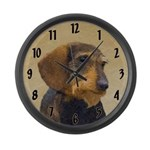 Dachshund (Wirehaired) Large Wall Clock