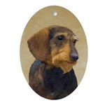Dachshund (Wirehaired) Oval Ornament