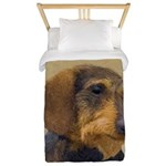 Dachshund (Wirehaired) Twin Duvet Cover