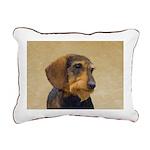 Dachshund (Wirehaired) Rectangular Canvas Pillow