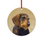 Dachshund (Wirehaired) Round Ornament