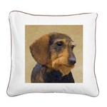 Dachshund (Wirehaired) Square Canvas Pillow