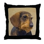 Dachshund (Wirehaired) Throw Pillow