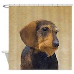 Dachshund (Wirehaired) Shower Curtain
