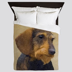Dachshund (Wirehaired) Queen Duvet