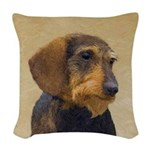 Dachshund (Wirehaired) Woven Throw Pillow