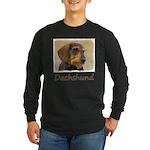 Dachshund (Wirehaired) Long Sleeve Dark T-Shirt