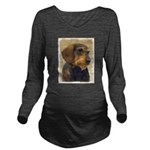 Dachshund (Wirehaire Long Sleeve Maternity T-Shirt