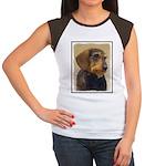 Dachshund (Wirehaired) Junior's Cap Sleeve T-Shirt
