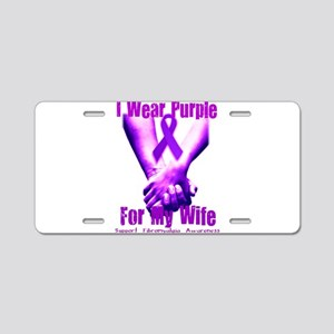 For My Wife Aluminum License Plate