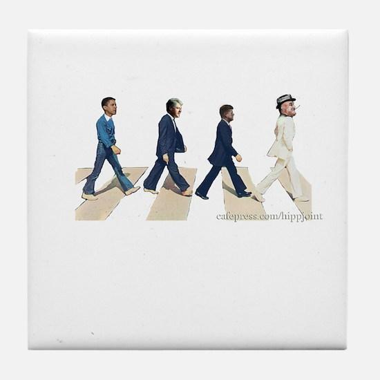 fdr to Obama Tile Coaster