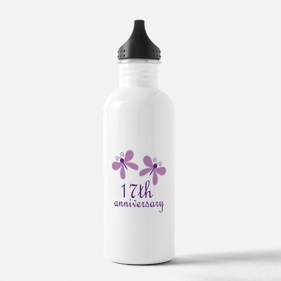 17th Anniversary (Wedding) Water Bottle