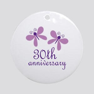 30th Anniversary (Wedding) Ornament (Round)