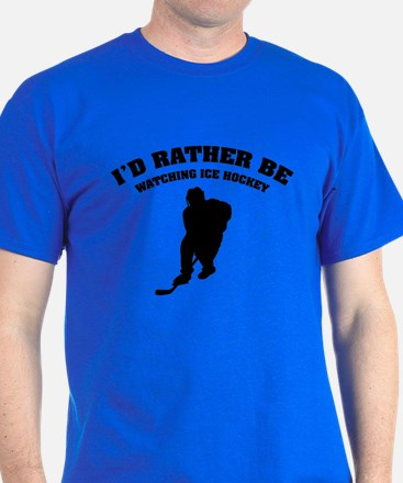I'd rather be watching ice hockey T-Shirt