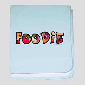 Foodie, food drink lover baby blanket