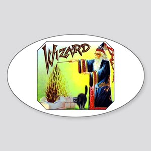 Wizard Cigar Label Sticker (Oval)