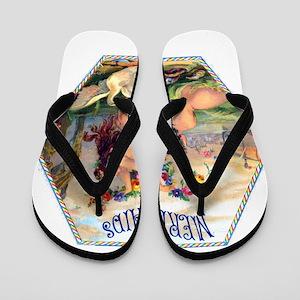Mermaids Cigar Label Flip Flops