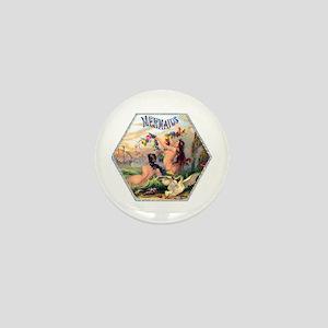 Mermaids Cigar Label Mini Button