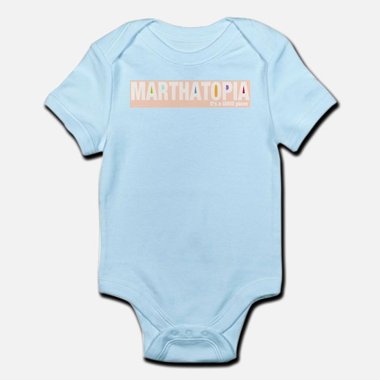 MARTHATOPIA - It's a Good Place!  Infant Creeper