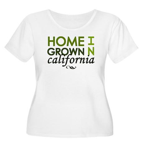 'California' Women's Plus Size Scoop Neck T-Shirt