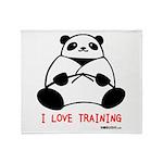 I Love Training: Panda Throw Blanket